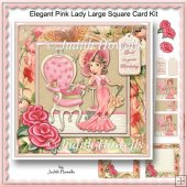 Elegant Pink Lady Large Square Card Kit