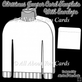 Christmas Jumper Card and Envelope Template