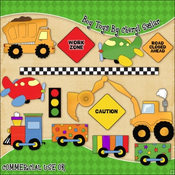 Boy Toys ClipArt Graphic Collection