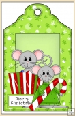 Christmouse Time Gift Tag - REF_T624