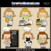 Happy Lulu In The Kitchen ClipArt Collection