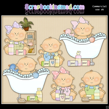Just Babies Bath and Body ClipArt Graphic Collection
