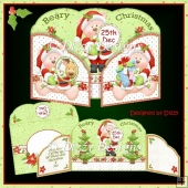 Santa Bears Wraparound Gatefold Card