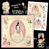 Silhouette Bride Card Front #1