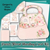 Pastel Floral Handbag Card Kit