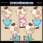Cow Folks 2 Clipart Graphics Download