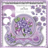 Lace And Roses In Lilac OTT Bracket Card Kit