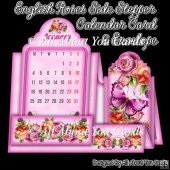 English Roses Side Stepper Calendar Card