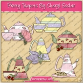 Pretty Tea Pots Graphic Collection - REF - CS