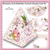 Blossoms And Butterflies Pyramid Shaped Card Kit