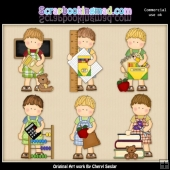 Mikey Loves School ClipArt Collection