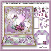 Perfume Roses And Shoes Large Easel Card Kit