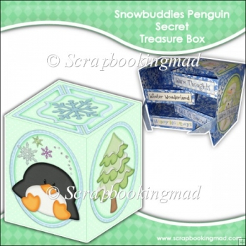 Snowbuddies Penguin Secret Treasure Box