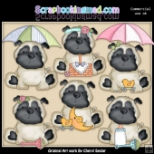 Pugsley The New Pup ClipArt Collection