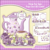 Time For Tea Pop Out 3D Card & Envelope