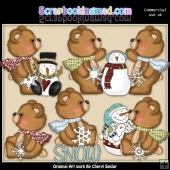 Fuzzy Cubs Loves The Snow ClipArt Collection