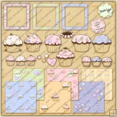Cupcakes ClipArt Graphic Collection