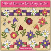 Mixed Bouquet Graphic Collection - REF - CS