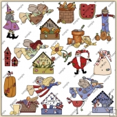 4 Seasons ClipArt Graphic Collection 1