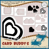 Heart Shaped Fold Card Template Set + Pyramage & Frayed Topper