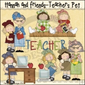 Hannah and Friends Teachers Pet ClipArt Graphic Collection