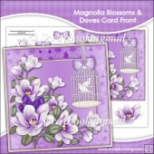 Magnolia Blossoms Doves Card Front (2)