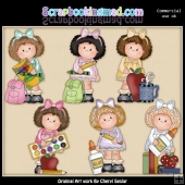Hillary Rose Goes To School ClipArt Collection