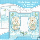 Holiday Charm Oval Double Foldback Card