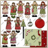 Christmas Angels ClipArt Graphic Collection