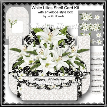 White Lilies Shelf Card Kit