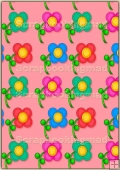 A4 Backing Papers Single - Pink Flowers - REF_BP_170