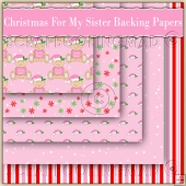 5 Cute Christmas For My Sister Backing Papers Download (C200)