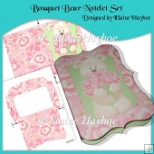 Bouquet Bear Notelet Set