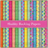 16 Shabby Backing Papers Download (C176)