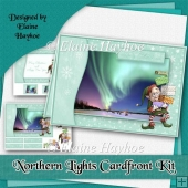 Northern Lights Christmas Cardfront Kit