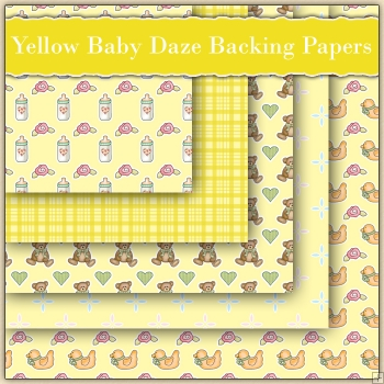 5 Yellow Baby Daze Backing Papers Download (C84)