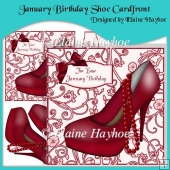 January Birthday Shoe Cardfront