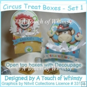 Circus Treat Boxes - Set 1