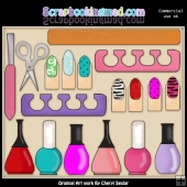 Mani Pedi ClipArt Collection