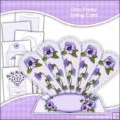 Lilac Pansy Fan Spring Card