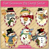 Oval Snowman Graphic Collection - REF - CS