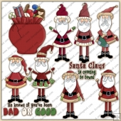 Santa 1 ClipArt Graphic Collection
