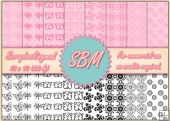8 PNG Paper Overlays 12 x 12 Designer Resources Pack 10