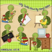 Silly Turtles School ClipArt Graphic Collection