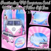 Freestanding VW Campervan Card & Envelope & Pillow Gift Box
