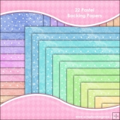 22 Pastel Backing Papers