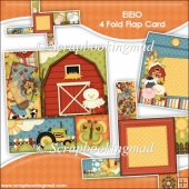 EIEIO 4 Fold Flap Card & Envelope