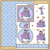 Penguin Party PDF Decoupage Download