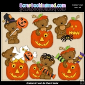 Jackolantern Tibbles ClipArt Collection