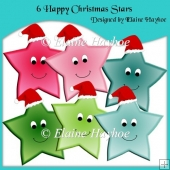 6 Happy Christmas Stars